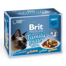Brit Premium Cat Adult Family Plate Gravy pouch