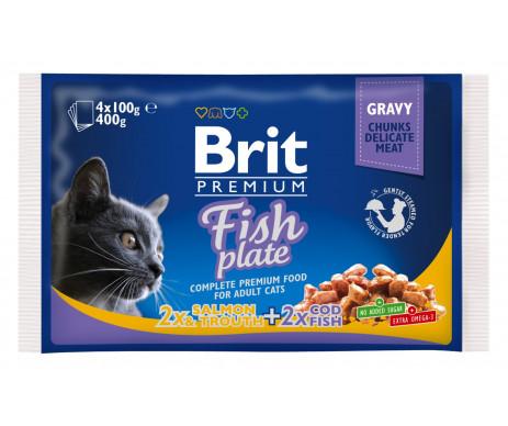 Brit Premium Cat Adult Fish Plate Gravy pouch