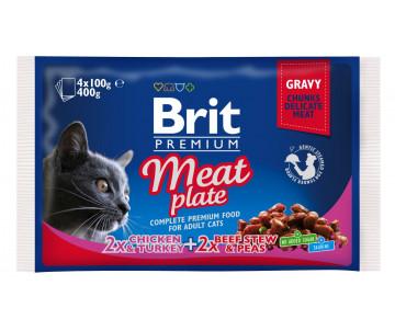 Brit Premium Cat Adult Meat plate Gravy pouch