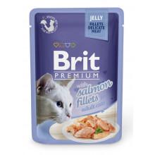 Brit Premium Cat Adult Salmon Jelly pouch