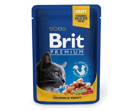 Brit Premium Cat Adult Salmon&Trout pouch