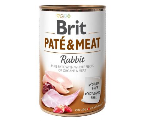 Brit Paté & Meat Rabbit Dog k влажный корм для собак с кроликом