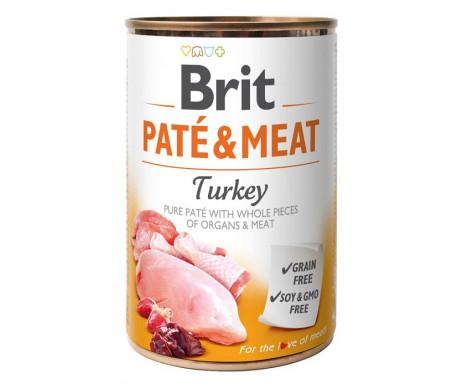 Brit Paté & Meat Turkey Dog k влажный корм для собак с индейкой