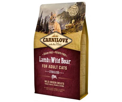 Carnilove Cat Adult Sterilised Lamb Wild Boar