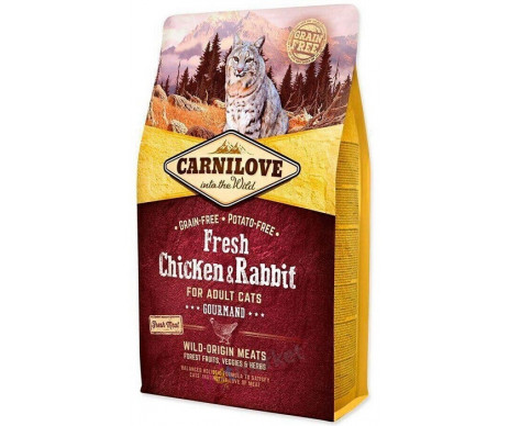 Carnilove Cats Adult Fresh Chicken&Rabbit Gourmand