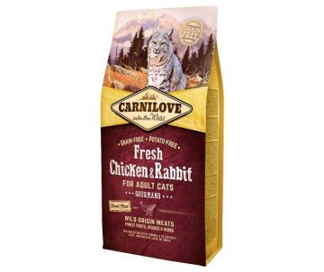 Carnilove Cat Adult Fresh Chicken Rabbit Gourmand