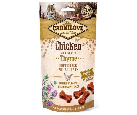 Carnilove Cat Crunchy Snack лакомство для кошек курица тимьян