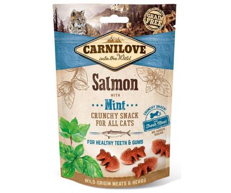 Carnilove Cat Crunchy Snack лакомство для кошек лосось, мята