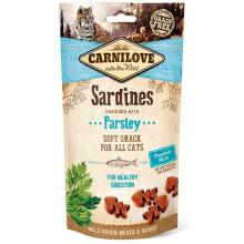 Carnilove Cat Crunchy Snack лакомство для кошек сардина петрушка