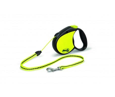 Flexi NEON Black Рулетка для собак Трос