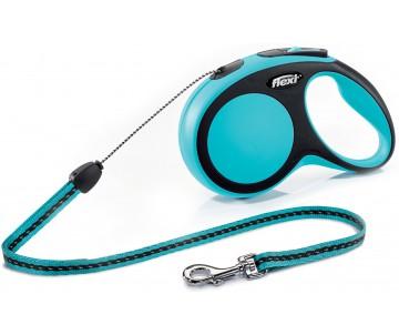 Flexi NEW COMFORT BLUE Рулетка для собак Трос