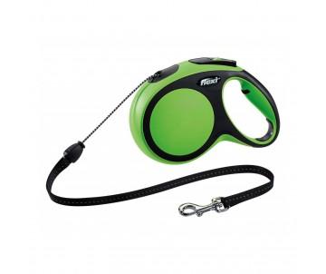 Flexi NEW COMFORT GREEN Рулетка для собак Трос