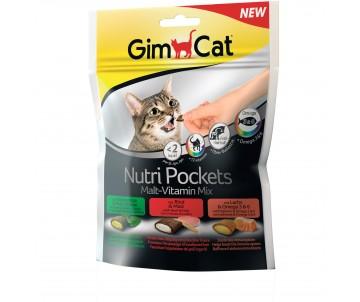 GimCat Nutri Pockets для кошек Мультивитамин микс