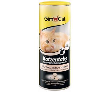 GimCat Katzentabs Mascarpone Biotin Маскарпоне + биотин витаминизированные лакомства