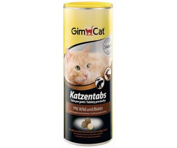 GimCat Katzentabs Wild Biotin дичь оленина и биотином витаминизированные лакомства