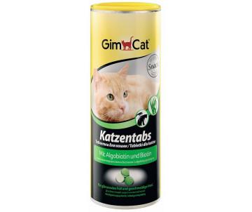 GimCat Katzentabs Algobiotin Biotin Алгобиотин и биотин витаминизированные лакомства