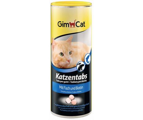GimCat Katzentabs Fish Biotin Рыба и биотин витаминизированные лакомства