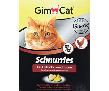 GimCat Schnurries Витаминные сердечки для кошек, лосось