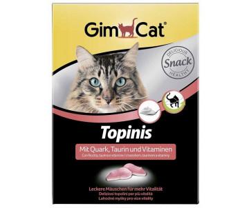 GimCat TOPINIS творог витамины для улучшения обмена веществ, микрофлоры кишечника