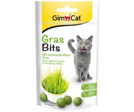 GimCat GrasBits витаминизированые таблетки с травой для кошек