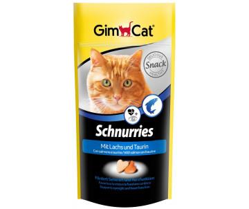 GimCat Schnurries Витаминные сердечки для кошек с таурином и лососем