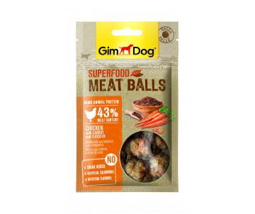 GimDog Superfood для собак Мясные шарики, 70g