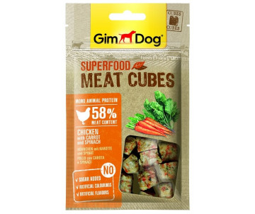 GimDog Superfood для собак Мясные кубики, курица с клюквой и розмарином