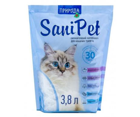 SaniPet силикагелевый наполнитель для кошачьего туалета