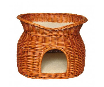Trixie Wicker Cave Двухъярусный плетеный домик для котов