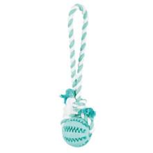 Trixie Denta Fun Мяч для зубов на веревке игрушка для собак