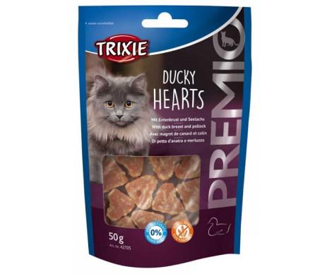 Trixie PREMIO Hearts Лакомство для котов утка минтай
