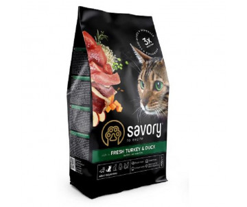Savory Cat Adult With Fresh Turkey Duck