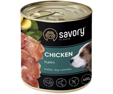 Savory Dog Puppy Chicken Wet