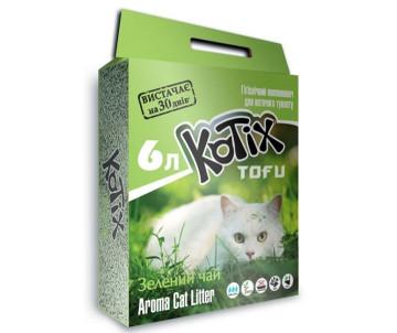 Kotix Tofu Соевый наполнитель для кошачьего туалета, с ароматом зеленого чая