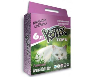 Kotix Tofu Соевый наполнитель для кошачьего туалета, с ароматом лаванды