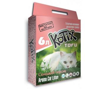 Kotix Tofu Соевый наполнитель для кошачьего туалета, с ароматом персика