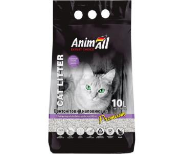 AnimAll Лаванда Бентонитовый белый наполнитель для кошачьего туалета