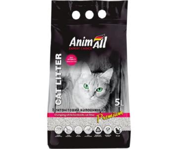 AnimAll Бентонитовый белый наполнитель для кошачьего туалета без аромата