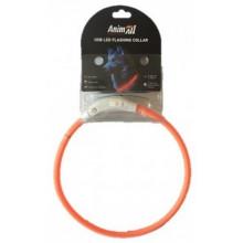 AnimAll Orange ошейник LED (с подзарядкой USB)