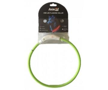 AnimAll green ошейник LED (с подзарядкой USB)