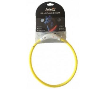 AnimAll yellow ошейник LED (с подзарядкой USB)