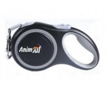 AnimAll рулетка-поводок для собак серый
