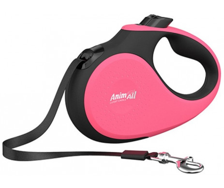 AnimAll Deluxe Pink рулетка-поводок для собак