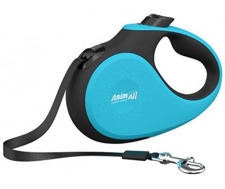AnimAll Deluxe Blue рулетка-поводок для собак