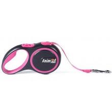 AnimAll рулетка-поводок для собак розовый
