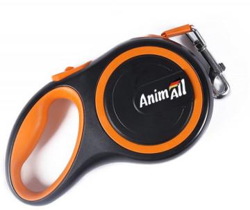AnimAll рулетка-поводок для собак оранжевый