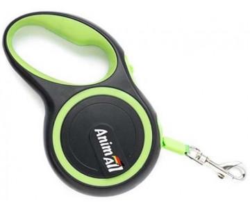 AnimAll рулетка-поводок для собак зеленый