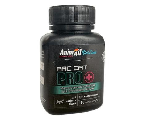 AnimAll VetLine PAC CAT PRO Витаминная добавка для котов и кошек 0,5 г х 100 т.