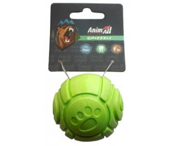 AnimAll GrizZzly Игрушка мячик с ароматом зеленого яблока