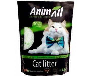 """AnimAll """"Зеленый холм"""" силикагель наполнитель для кошачьего туалета"""